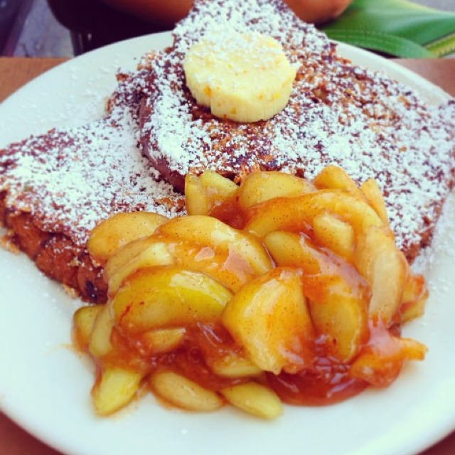 Apple Cobbler French Toast at The Griddle Cafe on #foodmento http://foodmento.com/place/685