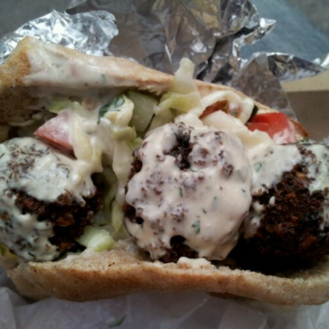 Falafel Sandwich at Taïm Falafel and Smoothie Bar on #foodmento http://foodmento.com/place/1254