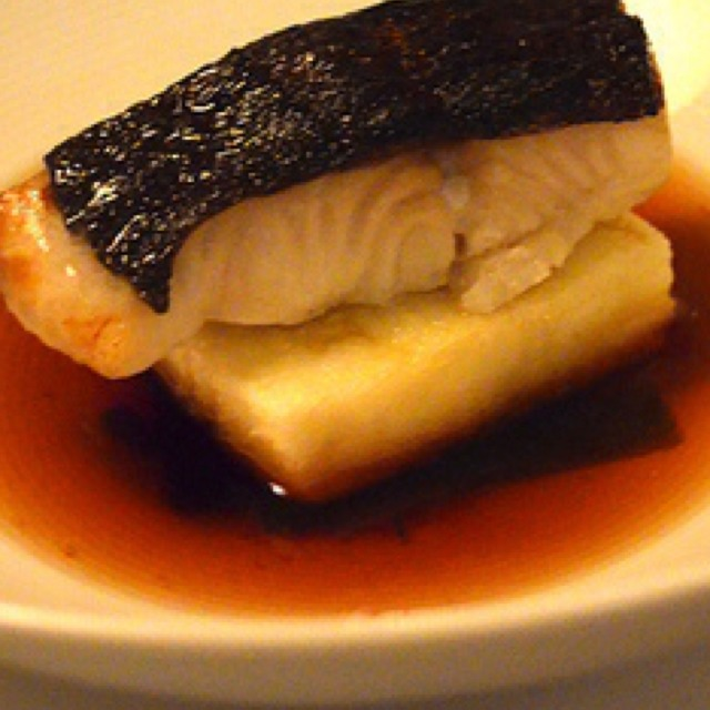 Miso Marinated Sable with Crispy Silken Tofu at Annisa (CLOSED) on #foodmento http://foodmento.com/place/815