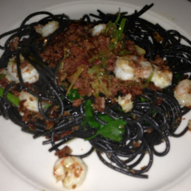 Black Spaghetti at Babbo Ristorante on #foodmento http://foodmento.com/place/822
