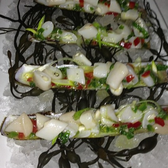 Razor Clam Crudo at Esca on #foodmento http://foodmento.com/place/849