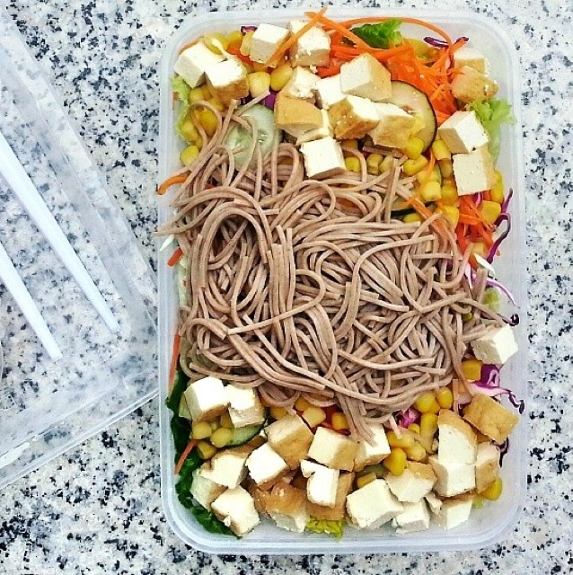 Tofu & Soba Salad from The Salad Corner on #foodmento http://foodmento.com/dish/9157