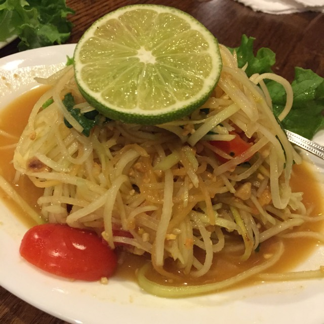 Papaya Salad - Appetizer‎ at SriPraPhai Thai Restaurant on #foodmento http://foodmento.com/place/383