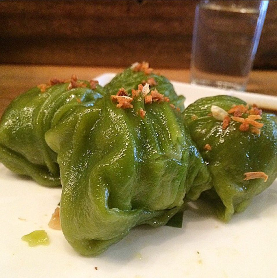 Vegetable Dumplings (peanuts, tofu, garlic chip, ginger soy dip) at Pure Thai Cookhouse on #foodmento http://foodmento.com/place/2701