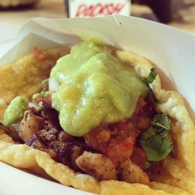 Pollo Asado Taco (Grilled Chicken) at Los Tacos No.1 on #foodmento http://foodmento.com/place/2840