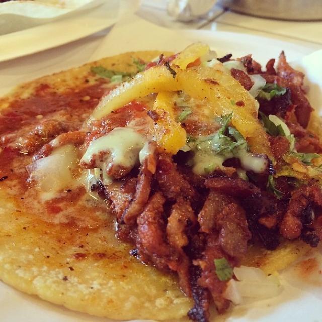 Pork Carnitas Taco at Los Tacos No.1 on #foodmento http://foodmento.com/place/2840