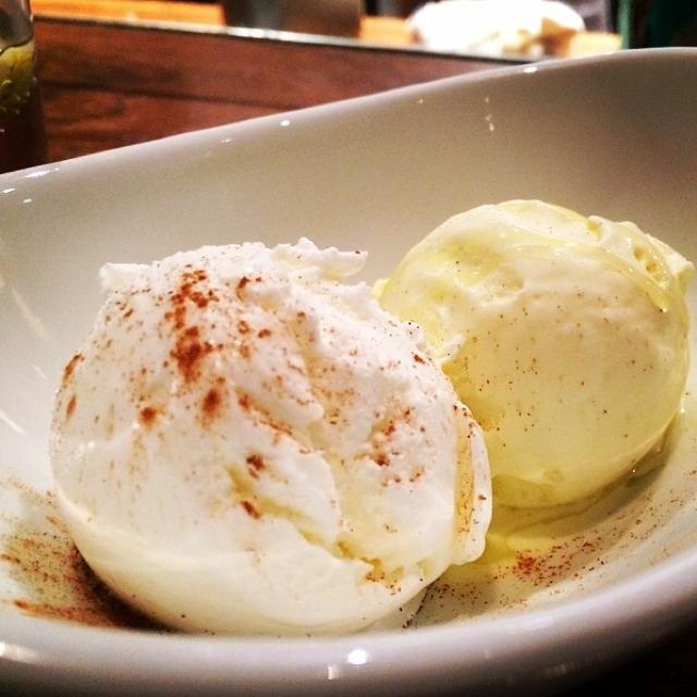 Creme Fraiche & Olive Oil Ice Cream at Casa Mono / Bar Jamon on #foodmento http://foodmento.com/place/289