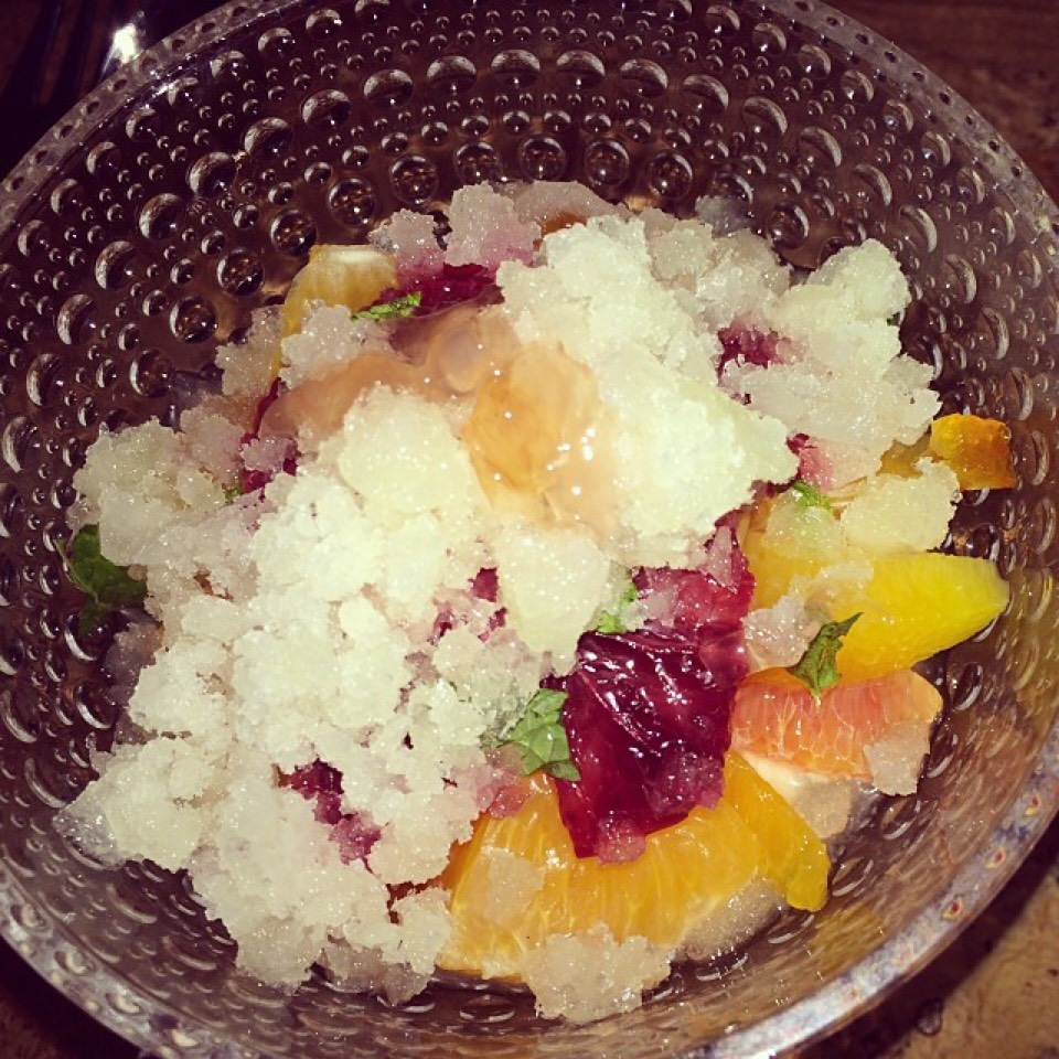 Citrus Fruit Salad (Tapioca Pudding, Seasonal Fruits) at Narcissa on #foodmento http://foodmento.com/place/3155