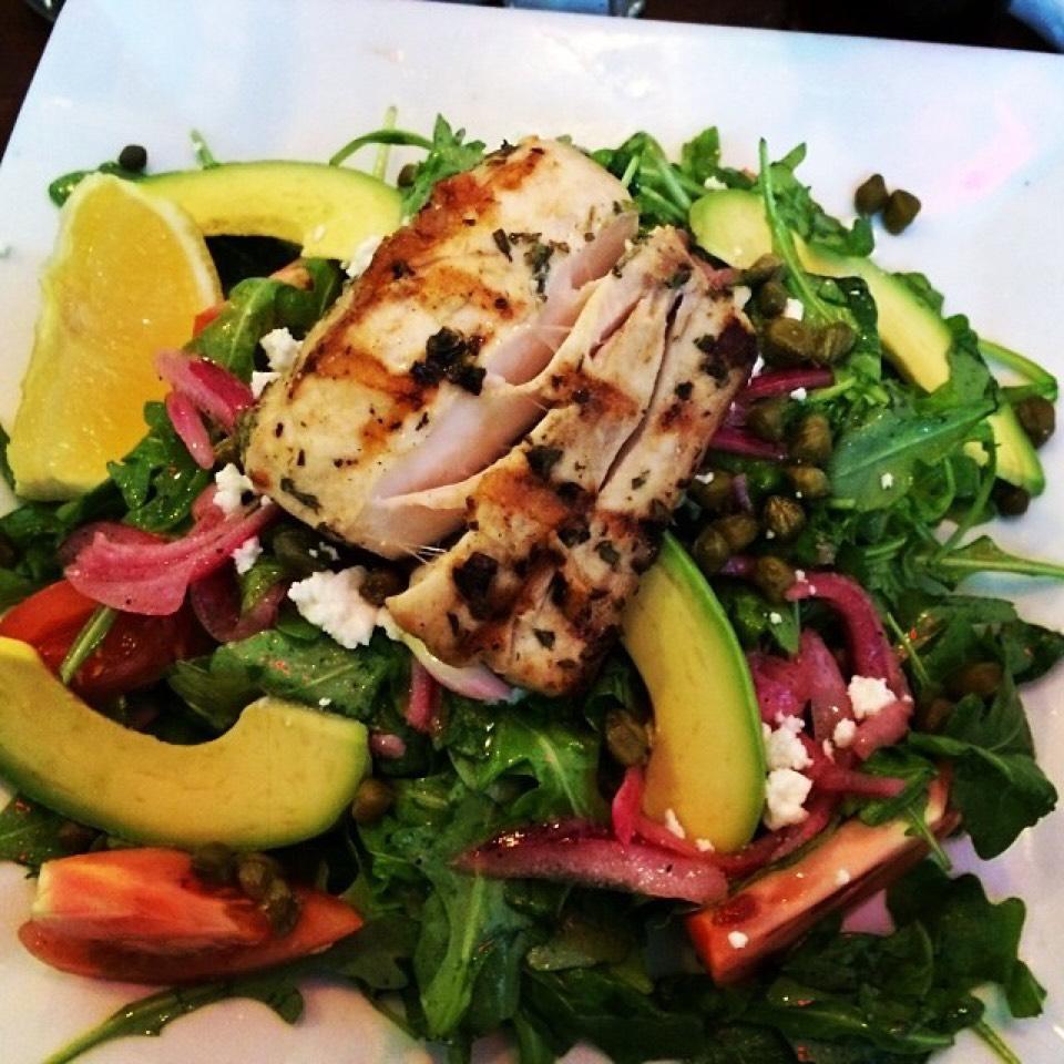 Grilled Mahi Mahi, Arugula, Quinoa, Grilled Mango, Feta... at Westville East on #foodmento http://foodmento.com/place/3330