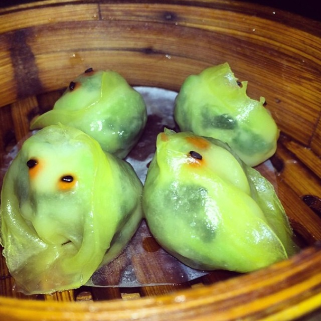 Shrimp & Snow Pea Leaf Dumplings at Decoy on #foodmento http://foodmento.com/place/3423