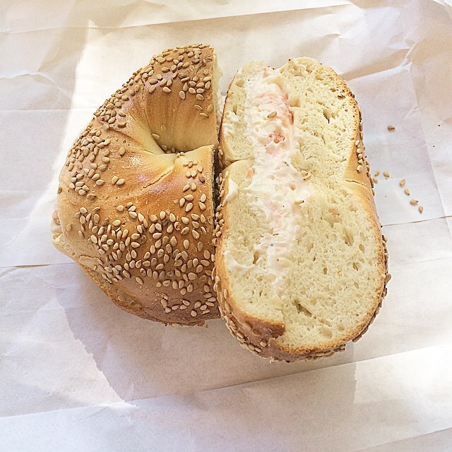 Sesame Bagel, Lox at Tompkins Square Bagels on #foodmento http://foodmento.com/place/3457