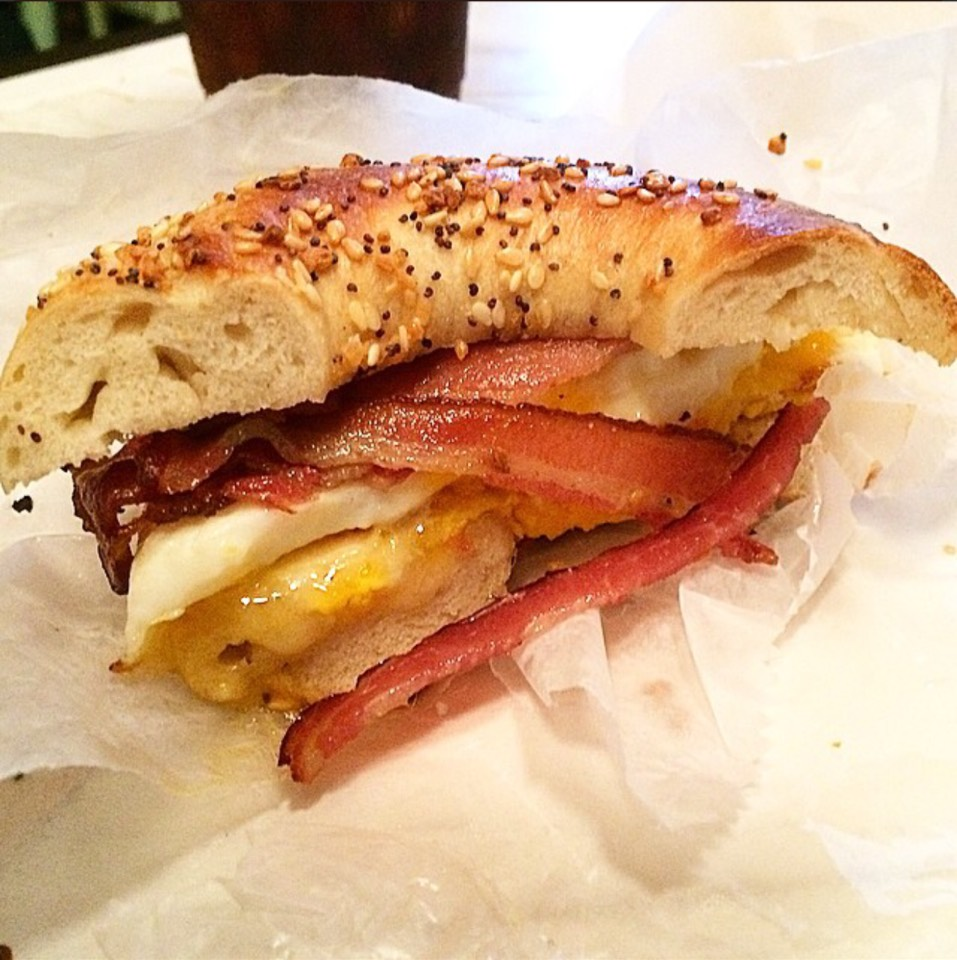 Bagel with Bacon, Egg, Cheese at Black Seed Bagels on #foodmento http://foodmento.com/place/3676