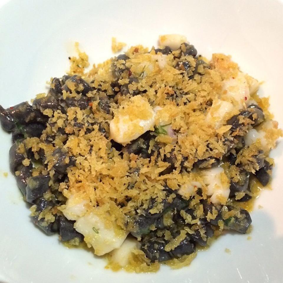 Trofie Nero (ligurian crustacean ragu, seppia, scallops, spiced mollica) at Ai Fiori on #foodmento http://foodmento.com/place/3698