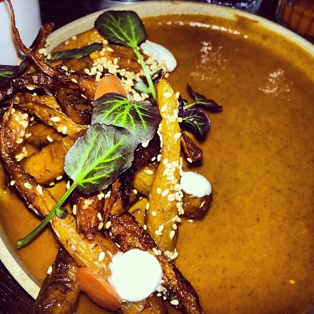 Roasted Carrots, Mole Poblano, Yogurt, Watercress at Empellón Cocina (CLOSED) on #foodmento http://foodmento.com/place/848