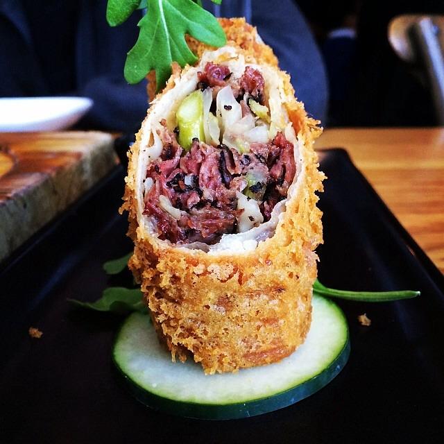 Katz's Pastrami Egg Roll on #foodmento http://foodmento.com/dish/3793