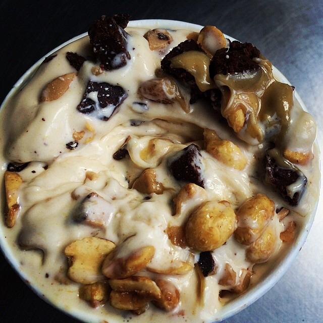 Honey Almond Cake Custard, Peanut Butter Sauce... at Shake Shack on #foodmento http://foodmento.com/place/959