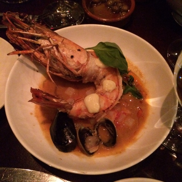 Tiger Shrimp With Clams at Casa Mono / Bar Jamon on #foodmento http://foodmento.com/place/289