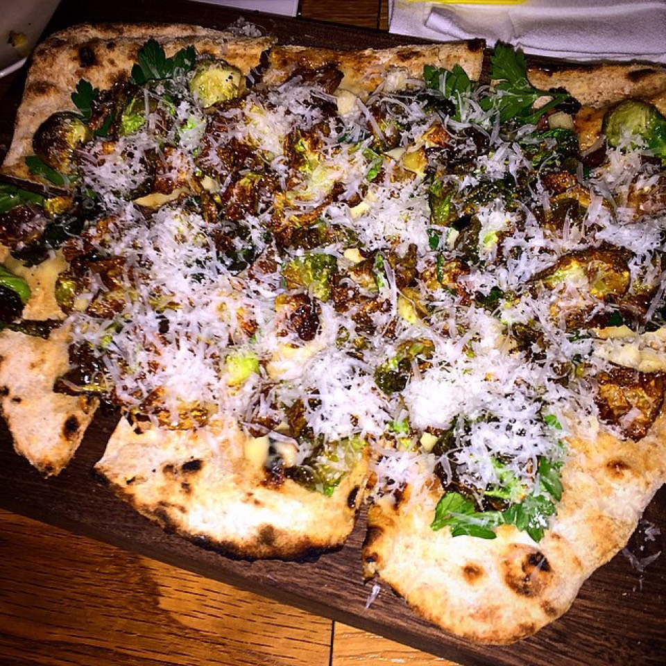 Grilled Flatbread With Brussels Sprouts, Grated Cheese... at Maysville on #foodmento http://foodmento.com/place/3539