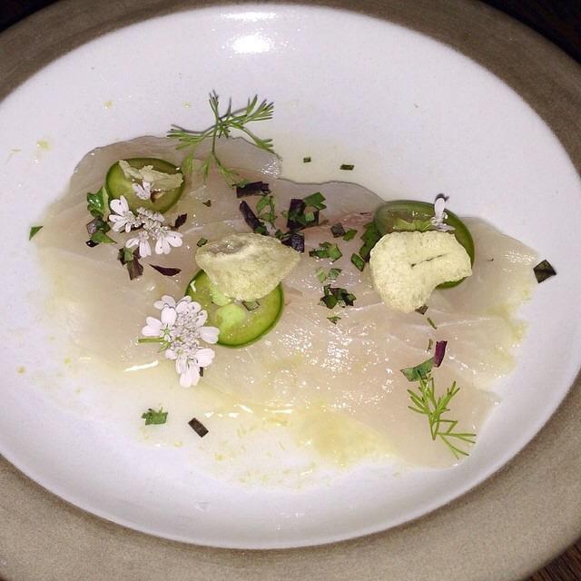 Amberjack Sashimi, Serrano Chile... at Son of a Gun on #foodmento http://foodmento.com/place/4003