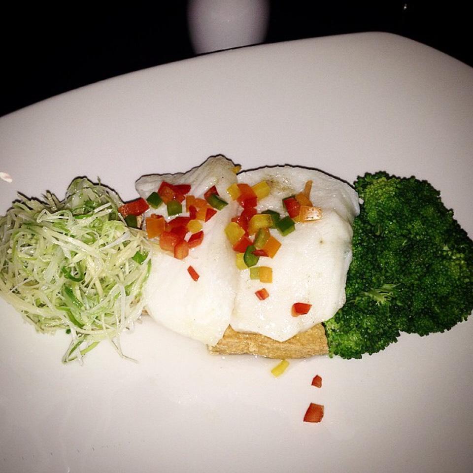 Steamed Chilean Sea Bass, Fried Tofu... on #foodmento http://foodmento.com/dish/20884