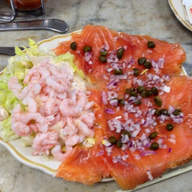 Smoked Salmon Plate, Shrimp Louie on #foodmento http://foodmento.com/dish/17986