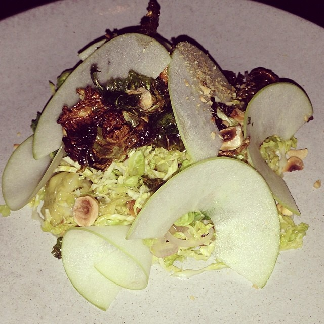 Brussels Sprouts, Apples, Hazelnut, Bacon at The NoMad Restaurant on #foodmento http://foodmento.com/place/971